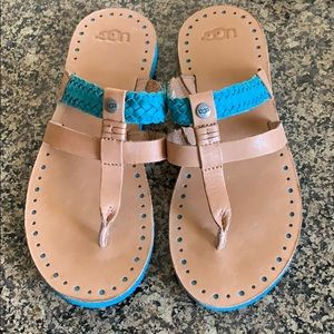 WOMENS UGG LEATHER SANDALS 6
